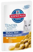 "Пауч Hill's SP ""Feline Mature Adult 11 + Chicken"", с курицей"